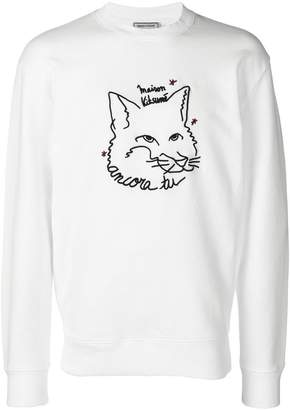 MAISON KITSUNÉ fox embroidery sweatshirt