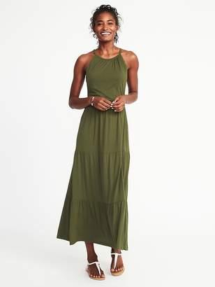 Old Navy High-Neck Waist-Defined Maxi Dress for Women