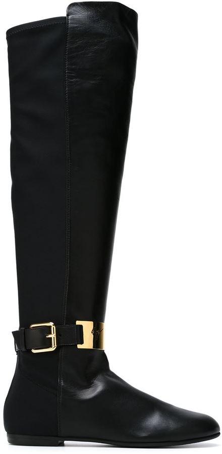 Giuseppe Zanotti Design bi-material boots