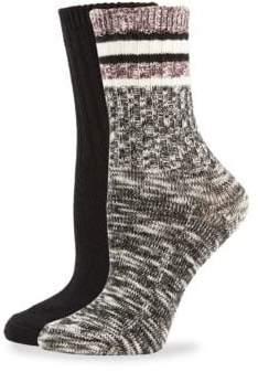 Hue Two-piece Space Dye Boot Sock Set