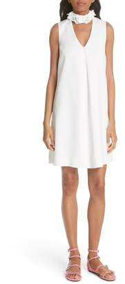 Ted Baker Embellished Neck A-Line Tunic Dress