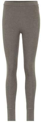 Jil Sander Ribbed knit wool leggings