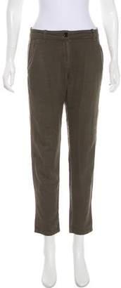 Raquel Allegra Mid-Rise Straight-Leg Pants