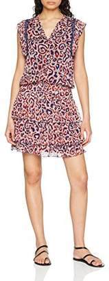 Berenice Women's Adria Party Dress, Red Leopard Print