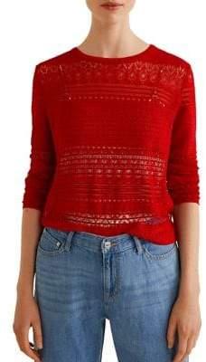 MANGO Dasilva Openwork Jersey Sweater