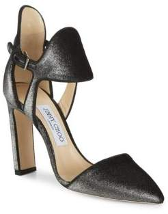 Jimmy Choo Moon Ankle Cuff Block Heels
