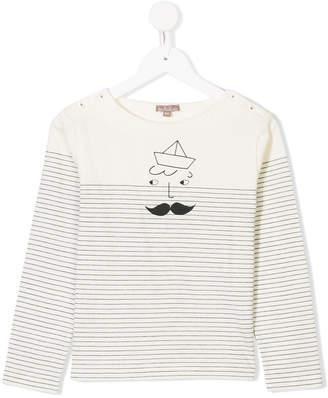 Emile et Ida stripe pattern longsleeved T-shirt