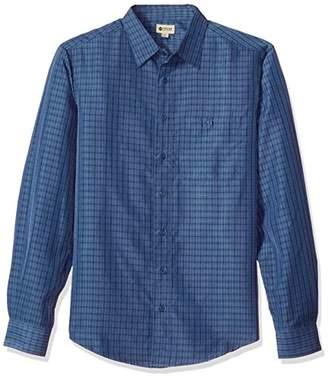 Haggar Men's Big&Tall Long Sleeve Sueded Effect Microfiber Shirt