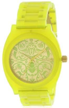 Nixon Time Teller Green Acetate Ladies Watch A3271896