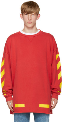 Off-White Red Arrows Pullover $390 thestylecure.com