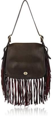 Coach Vintage Women's Black Leather Fringed Stewardess Bag