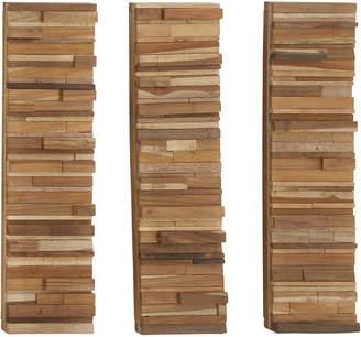 Uma Enterprises 3Pc Wood Block Panels