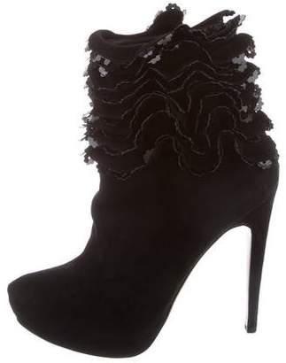 Alaia Embellished Platform Ankle Boots