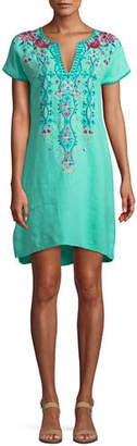 Johnny Was Peta Easy Linen Tunic Dress, Plus Size