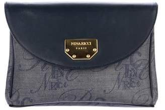 Nina Ricci Leather-Trimmed Canvas Crossbody Bag