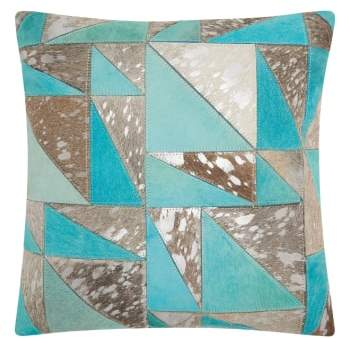 Mina Victory Metallic Calf Hair Accent Pillow