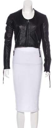 Linea Pelle Leather Zip-Up Jacket