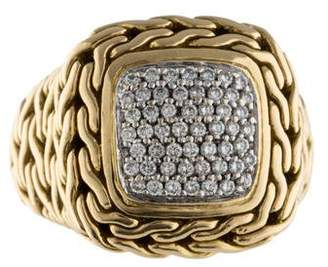 John Hardy Pavé Classic Chain Ring