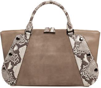 Akris Aimee Small Two-Tone Satchel Bag