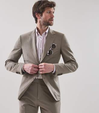 Reiss Pryce B - Slim Fit Blazer in Taupe