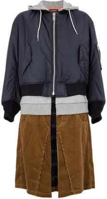 Undercover hybrid hooded coat