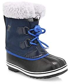 Sorel Kid's Yoot Pac Waterproof Faux Shearling-Trim Boots