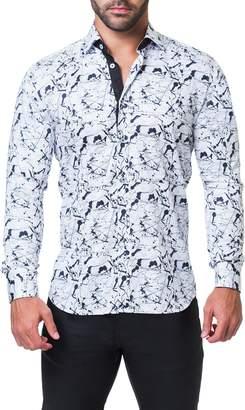 Maceoo Fibonacci Haring Regular Fit Print Sport Shirt