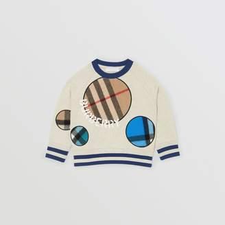 Burberry Childrens Check Appliqué Cotton Sweatshirt