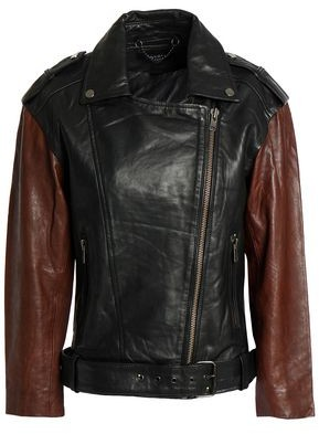 Muu Baa Muubaa Two-Tone Leather Biker Jacket