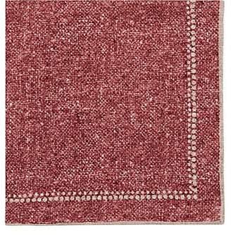 Paolo Albizzati Men's Dot-Border Linen-Cotton Gauze Pocket Square - Red