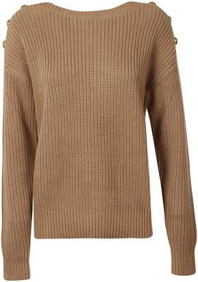 Michael Kors Button Shoulder Sweater