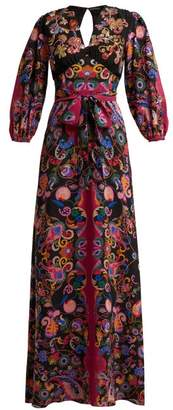 Etro Varo Sequin Embroidered Silk Dress - Womens - Black Multi