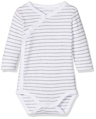 3722efa35 Name It Baby Nbnbody Wrap Ls Mel Noos Footies, Stripes: Snow White/Grey