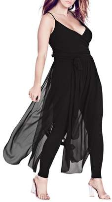 City Chic Jumpsuit Overlay