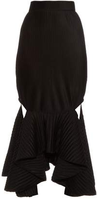 Givenchy Technical-pleated jersey skirt