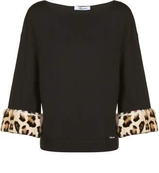 Blumarine Leopard Print Cuff Blouse