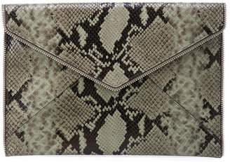 Rebecca Minkoff snakeskin effect clutch