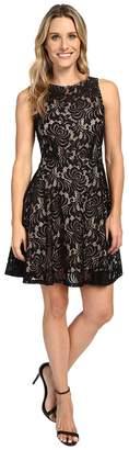 Karen Kane Fit and Flare Lace Dress Women's Dress