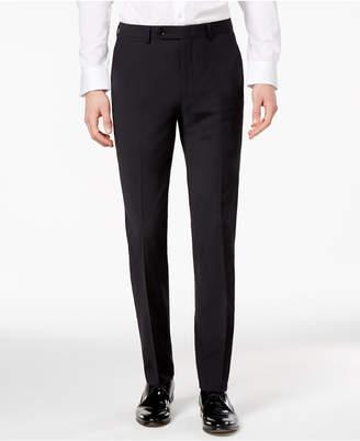 Bar III Men's Skinny Fit Stretch Wrinkle-Resistant Black Suit Pants