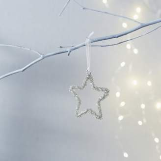 The White Company Beaded Star Christmas Decoration