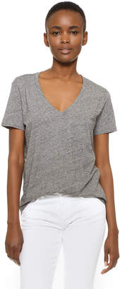 Madewell Whisper Cotton V Neck Pocket Tee $19.50 thestylecure.com