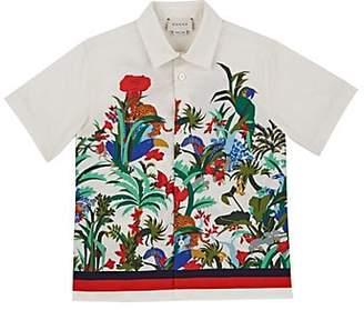 bb0c89d1fe3 Gucci Kids  Jungle-Print Cotton Shirt - Cream