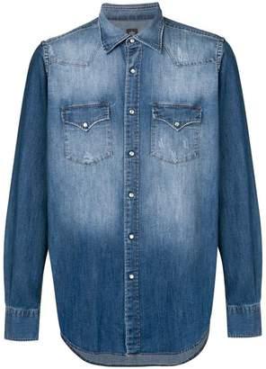 Eleventy denim button down shirt