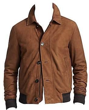 0159d02e Men's Suede Button-Front Jacket