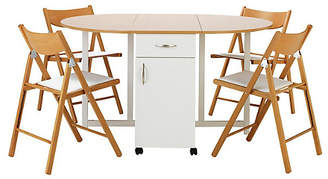 Argos Home Willow Extendable Table & 4 Chairs - Two Tone