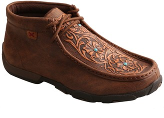 Twisted X Women's Leather Lace-Up Chukka Driving Mocs