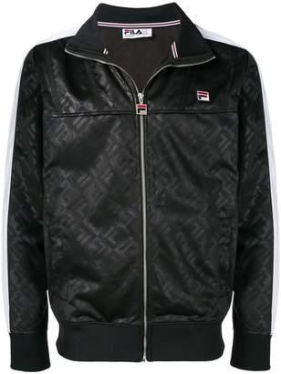 Fila logo print zipped jacket