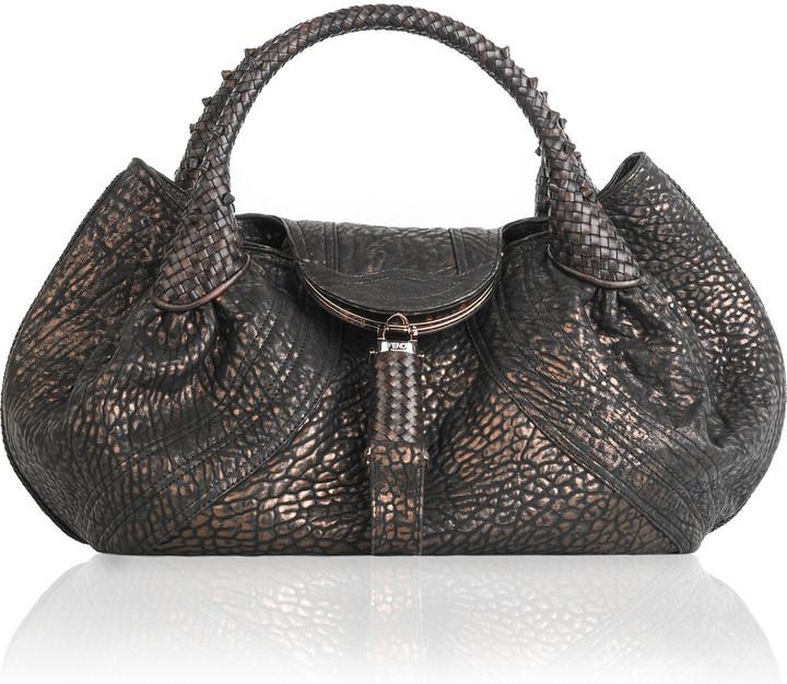 Fendi Textured leather Spy bag