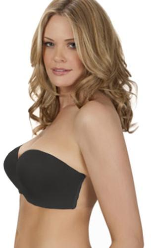 Fashion Forms Women's Ultimate Boost Backless Strapless Black Bra