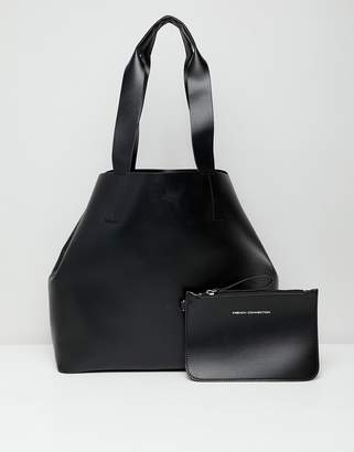French Connection tote handbag with zip purse